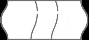 dreigeteiltes Preisetikett - Sicherheitsetikett