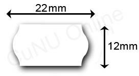 22x12mm Etiketten mit gewölbtem Rand, Wellenrandetiketten