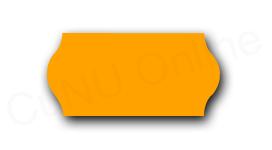 Preisetiketten, 26x12mm, orange