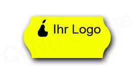 Preisetiketten mit Logo